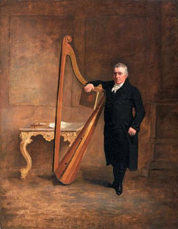 Griffith Owen, Harpist to the Corbet Family of Ynysmaengwyn