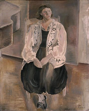 Black and White Figure- Portrait of the Artist's Wife, Frances (1901-1985)
