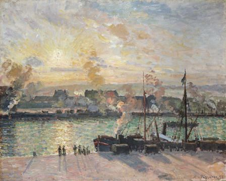 Sunset, the Port of Rouen (Steamboats)
