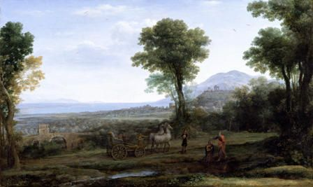 Landscape with St Philip baptising the Eunuch