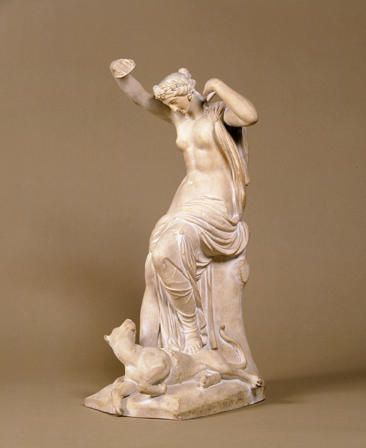 A Bacchante diverting the Attention of a Tiger