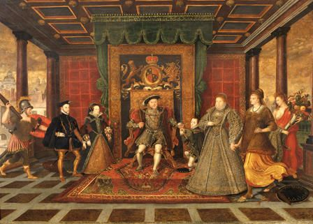 The Family Of Henry Viii An Allegory Of The Tudor Succession Art