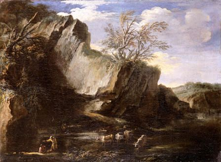 Rocky Landscape with Herdsmen and Cattle
