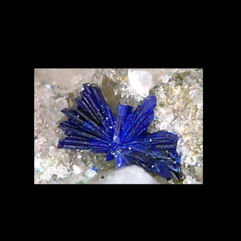 Azurite crystal spray