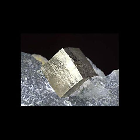 cubic pyrite crystal