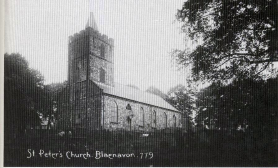 <strong>St Peter's Church, Blaenavon</strong><br /> Photograph of St Peter's Church, Blaenavon around the turn of the century