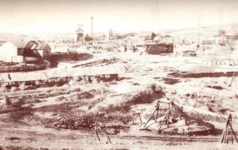 Burra Burra copper mine, 1874.