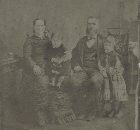 Rachel and John Price, with their daughters Esther and Rachael Jane