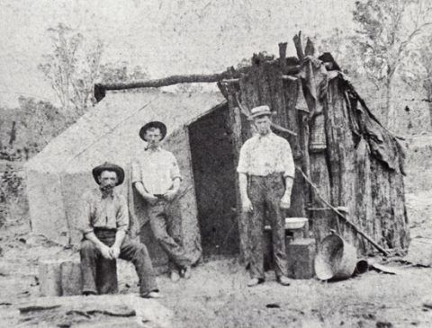 John Davies of Talsarnau, Gwynedd, with his brother and friend seeking gold during the Australian Gold Rush