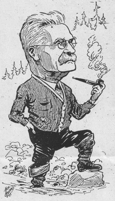 Harry Jones, contemporary cartoon