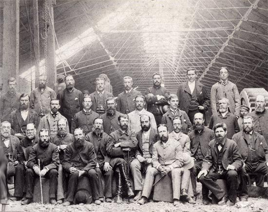 Welsh workers in the ironworks at Hughesovka
