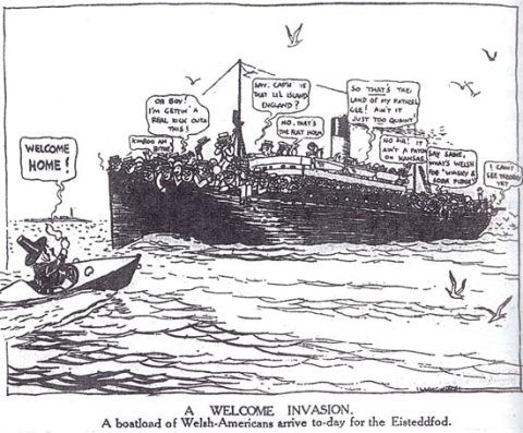 Cartoon from the Western Mail, 1928