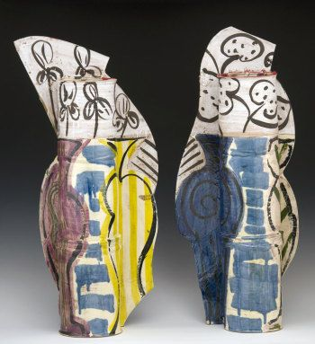 Betty Woodman, Diptych: the Balcony, painted earthenware