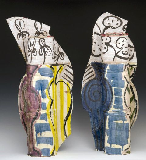 Betty Woodman, Diptych: the Balcony, painted earthenware, 2008