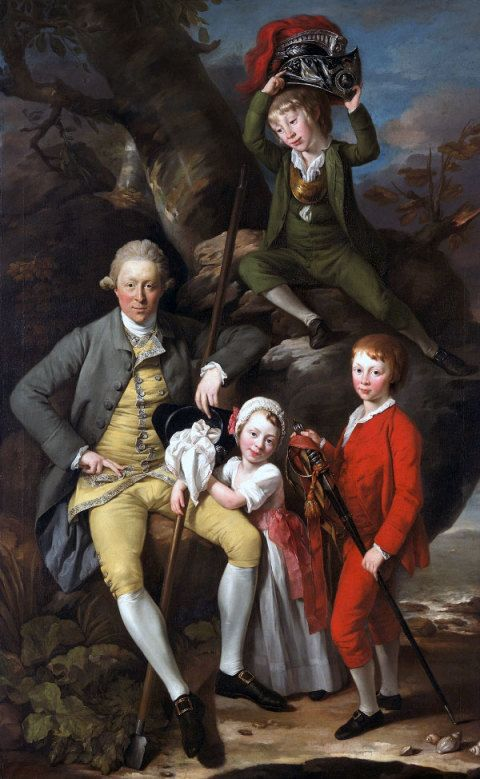 Henry Knight of Tythegston (1738-1772) with his three children, Johann Zoffany