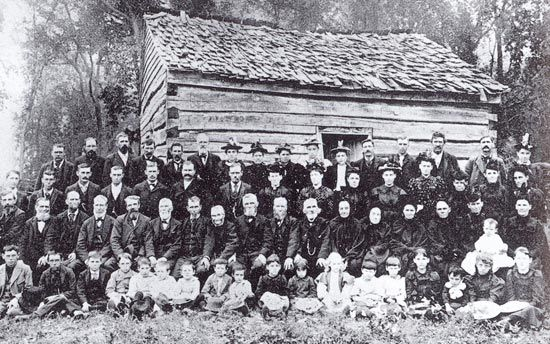 Old Saron Church, the first Welsh church in Minnesota, 1856