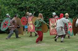 Britons and Romans fighting