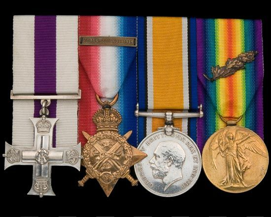 Medals awarded to Captain (later Major) Arthur Edwards.