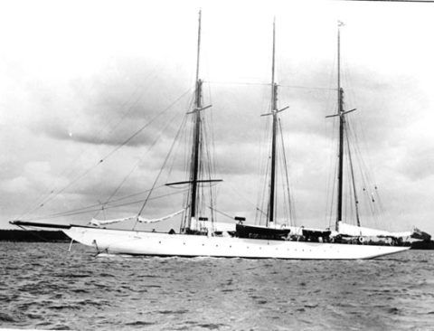 The sail training yacht Margherita