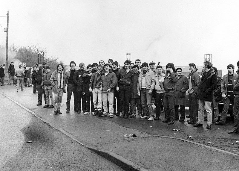 Picket line, Penallta Colliery