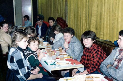 Christmas party for Miners' children, Banwen, Neath Valley