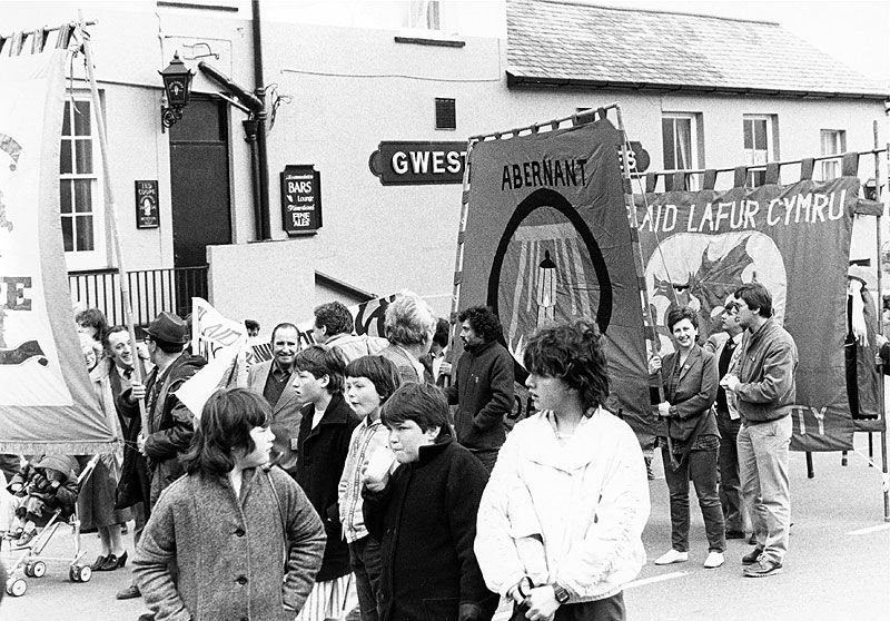 Demonstration in support of the miners, Blaenau Ffestiniog