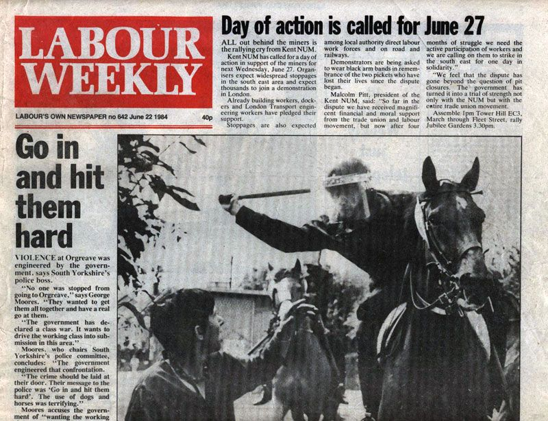 Front Page, Labour Weekly 1984