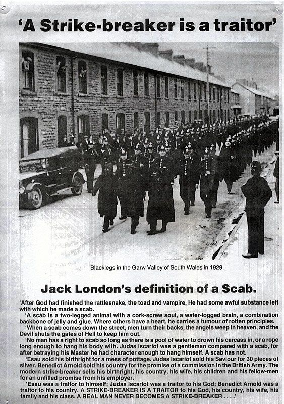 Poster produced during the strike