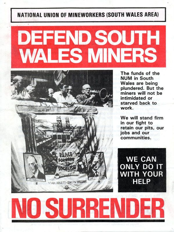 South Wales NUM strike poster