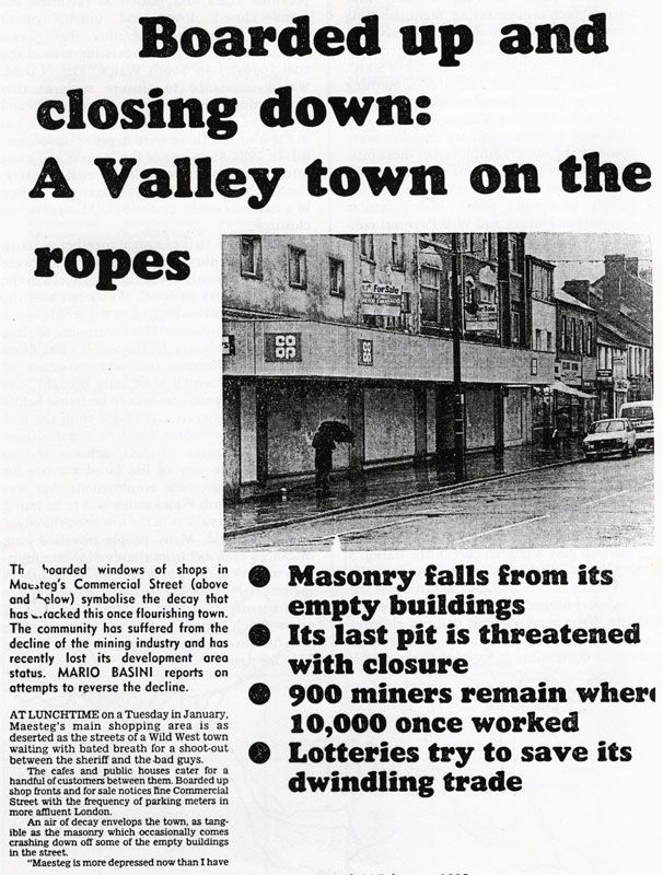 Western Mail article, 14 February 1985
