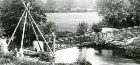 The new footbridge at Aber-cuch, 1908