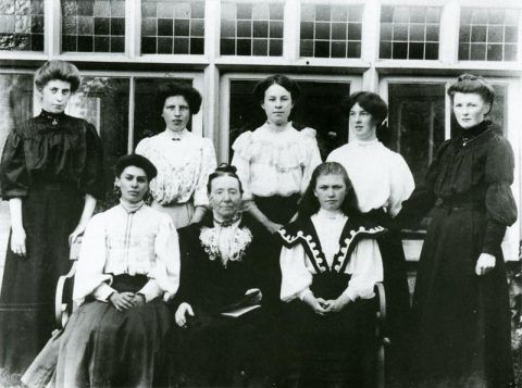 A Sunday School class at Glanolmarch House, Llechryd