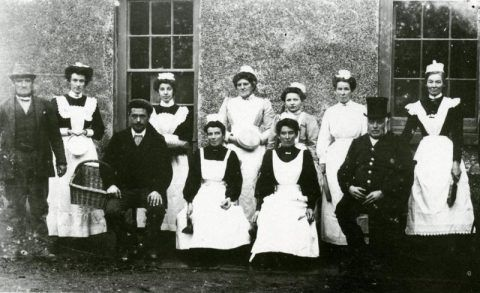 The Coedmore staff in their uniforms
